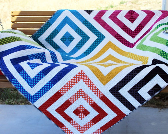 Orange Dot Quilts - MOTHERBOARD - Created by Dora Cary - Quilt Paper Pattern