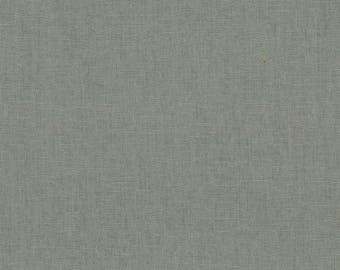 HALF YARD Kokka -Tayutou Solid Khaki Grey - JG-50810-10B - 45 Cotton 55 Linen Lightweight Canvas - Japanese Import Fabric Solids
