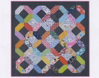 Patchwork With Busyfingers By SUE DALEY - EPP In the Window Wall Hanging Kit - Includes Pattern, Paper Pieces and Acrylic Templates