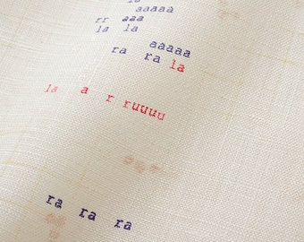 HALF YARD Kokka - Nani Iro 2019 - Apres la Pluie - 100% Linen - Cream Colorway - 10841-1B - Japanese