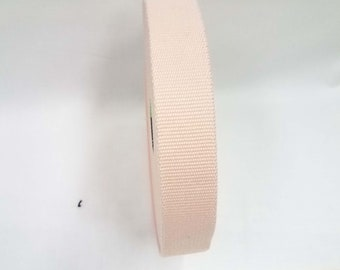 HALF YARD - Japanese Webbing - Color 262 Blush Cream - 30MM WIDE - Item 573530 Japanese Imported