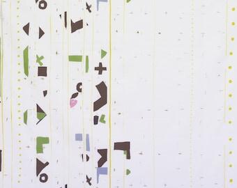 HALF YARD Yuwa - Border by Yoshiko Jinzenji - JZ822325-C - Cotton Sheeting - Low Volume Print - Japanese Import Fabric