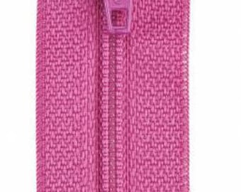 Coats & Clark - All-Purpose Polyester Coil Zipper - DARK ROSE - Choose length 12-18 inches