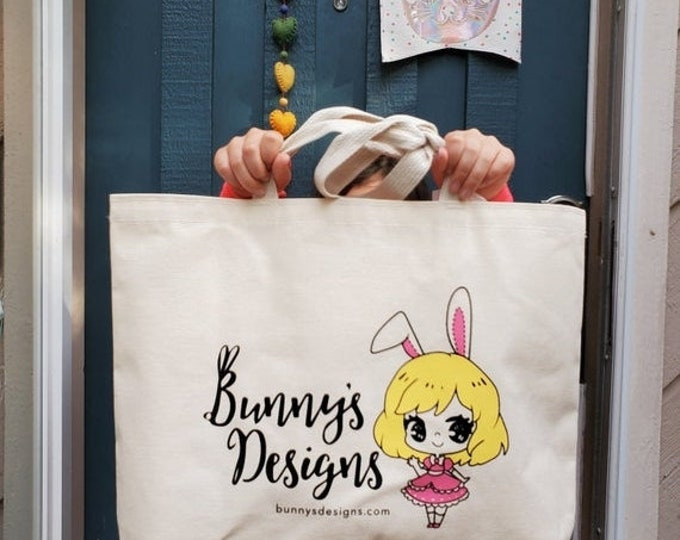 Featured listing image: Sale Bunny's Designs Canvas Bag  - Reusable Tote