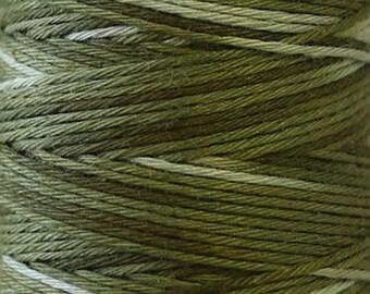 COSMO Hidamari Sashiko Variegated Thread #404 Gradiation Forest Moss -100% cotton - 30m (32.8 yds) skein - Hand Quilting Stitching -Lecien