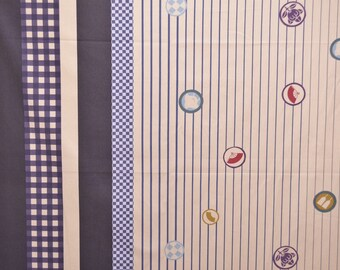 SHIP NOW - One Yard Precut - Yuwa - Dot Border by Yoshiko Jinzenji - JZ-312731-E - Cotton Lawn - Low Volume Print - Japanese Import Fabric