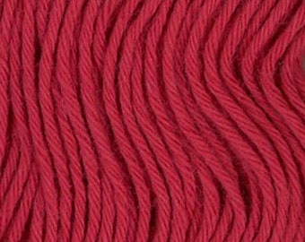 Sashiko Thread #12 ROSE RED - 100% cotton - 20 meter (22 yd) skein - Hand Quilting and Stitching- Japanese Imported