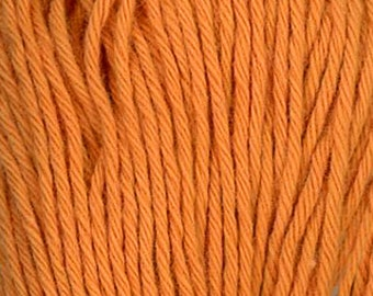 Sashiko Thread #4 CARROT ORANGE - 100% cotton - 20 meter (22 yd) skein - Hand Quilting and Stitching- Japanese Imported