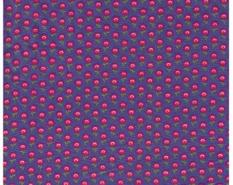 HALF YARD Yuwa -  Pink Flowers on Purple - Cotton Lawn - Live Life Collection Japanese Import