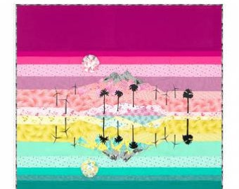 """Violet Craft - Elevated Abstractions: Desert MIrage Quilt - 90"""" x 90"""" Quilt Pattern - Foundation Paper Piecing"""