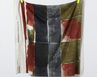 HALF YARD Kokka - Nani Iro - Chant et Poesie - 100% Cotton Double Gauze - Brown Autumn Colorway - 10950-1B - Japanese