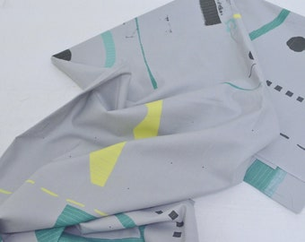 HALF YARD Yuwa - Quilt  JZ822327-C Yoshiko Jinzenji - Cotton Sheeting - Low Volume Print - Japanese Import Fabric
