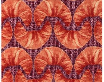 HALF YARD - Photo Realistic Croissants on Basket - Bakery - Oxford Cotton - Kokka Japanese Import
