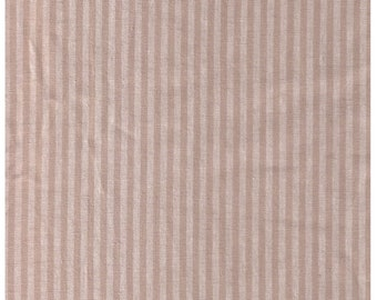 """Stof Fabrics - Shabby Chic - Muted White Stripes on Linen 18-017 - 55 linen/45 cotton - 60"""" Wide"""
