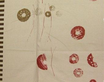 HALF YARD Yuwa - Doughnuts on Beige - Yoshiko Jinzenji - Low Volume Print - Japanese Import Fabric JZ152108-C