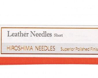 TULIP Leather Needles Short (2 piece) 0.96x 39.4 mm - Leatherwork Quilting Stitching Sewing - Japanese Imported - Hiroshima Japan