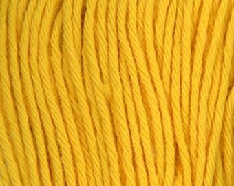 Sashiko Thread #16 Golden YELLOW - 100% cotton - 20 meter (22 yd) skein - Hand Quilting and Stitching- Japanese Imported