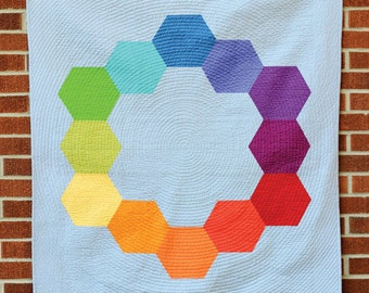 Color Hex Pattern by Jeni Baker with In Color Order - Plus Block Geometric Design