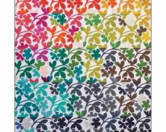 """Alison Glass Patterns - TUBEROSE Quilt Pattern by Eye Candy Quilts & Alison Glass - 64"""" x 80"""" Quilt Pattern - Raw Edge Applique"""