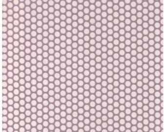 HALF YARD Yuwa Fabric - Cream Kei Honeycombs on Grey - Colorway 106  - Polka Dots by Kei - Japanese Import Fabric