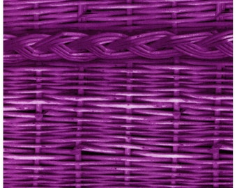HALF YARD - Photo Realistic Purple Basket Weave with Braid, Oxford Cotton - Cosmo Textiles, Japanese Import