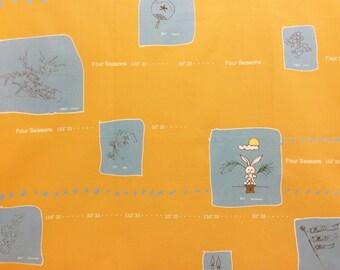 HALF YARD Yuwa - Seasons by Yoshiko Jinzenji JZ822330-E - Cotton Shirting Yellow - Low Volume Print - Japanese Import Fabric