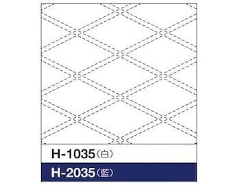 """OLYMPUS Sashiko sampler Traditional Design Tasuki WHITE SC-1035 - 12"""" Pillow or Dish towel - Hand Quilting Stitching- Japanese"""