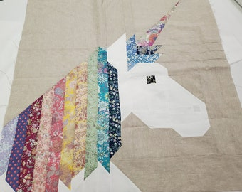 """QUILT KIT for 1 Block - 26"""" x 26"""" - Lisa The Unicorn by Elizabeth Hartman - Pattern sold separately"""