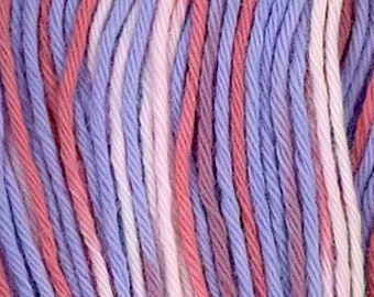 Sashiko Thread #73 Rose, Orchid Pink, White and Purple Variegated - 100% cotton - 20 meter (22 yd) skein - Hand Stitching- Japanese Import