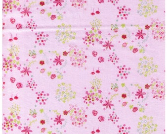 HALF YARD Creative Thursday - The Tinies - JG-50200-201A - Flowers on Pink - Cotton Sheeting
