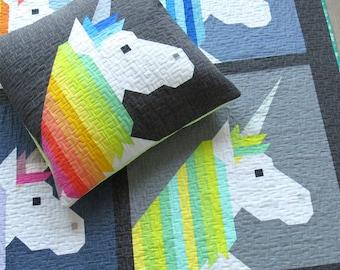 PATTERN - Lisa The Unicorn by Elizabeth Hartman - Pieced - Paper Pattern