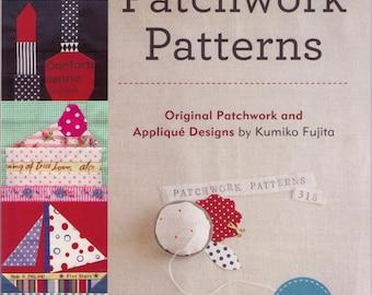 Zakka WORKSHOP Patterns - 318 Patchwork Patterns by Kumiko Fujita - Original Patchwork Applique Designs - English Edition Japanese Book