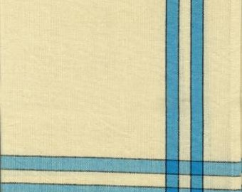 """Cross Bars on Plain Weave Dish Towel with cream background - Great for Embroidery and Applique - 20"""" x 28""""  Cross Stitch and Stitching"""