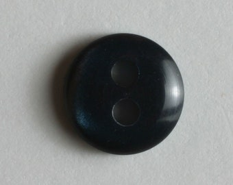Button - 8 mm - Colorway Navy Blue - Pearl like glimmer  - Made in Germany - Washable and Dry Cleanable