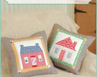 ZAKKA WORKSHOP Patterns - House Pillows - English Edition - Japanese Patchwork Pattern