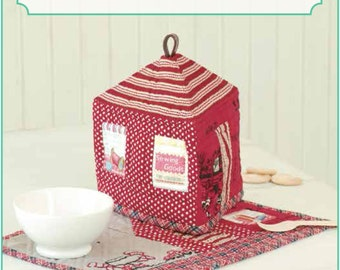 ZAKKA WORKSHOP Patterns - House Tea Cozy and Placemat - English Edition - Japanese Patchwork Pattern