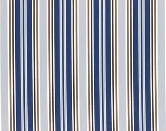 HALF YARD Lecien - Grey, Navy, Brown and Light Brown STRIPES - 40659-77 - Flower Sugar Maison  - Japanese