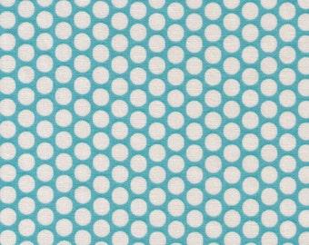 HALF YARD Yuwa Fabric - Kei Cream Honeycombs on Light Blue Background - Colorway 103 - Polka Dots by Kei - Japanese Import Fabric