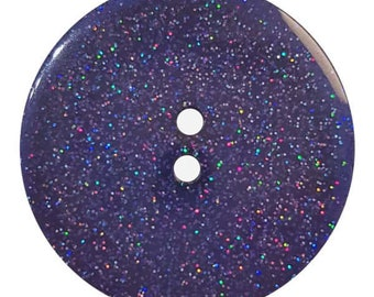 Glitter Button - 18 mm - Colorway Deep Blue - Looks like Blue Goldstone - Made in Germany - Washable and Dry Cleanable - Glitter
