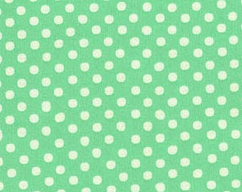 HALF YARD - Lecien - Color Basic - 4506-CM Light Teal w/ Small White Dots - Japanese Import Fabric