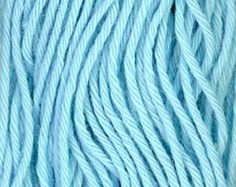 Sashiko Thread #8 AQUA BLUE - 100% cotton - 20 meter (22 yd) skein - Hand Quilting and Stitching- Japanese Imported
