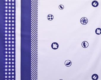 HALF YARD Yuwa - Dot Border by Yoshiko Jinzenji - JZ312731-A - Cotton Lawn - Low Volume Print - Japanese Import Fabric