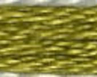 COSMO Embroidery Thread - Dark Golden Olive 2515-672 - 100% cotton Cosmo Floss 8 meters - Hand Quilting Stitching- Japanese