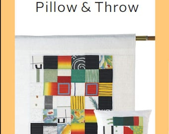 ZAKKA WORKSHOP Patterns - Graphic Squares Pillow and Throw by Yoshiko Jinzenji - Autographed - English Edition - Japanese Patchwork Pattern