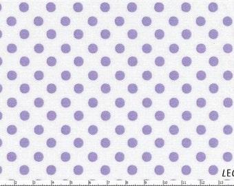 HALF YARD - Lecien - Color Basic - 4506-WPU Purple Lavendar Dots Small on White- Japanese Import Fabric