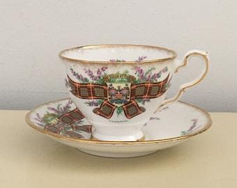 Clan Cameron Royal Stafford Bone China Cup and Saucer Tartan Series Tea Coffee Scottish Clans