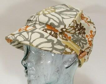 The Jockey Hat Cap Ladies  Cotton Helmut Retro 1960s Vintage Style Size Large- 7 1/2 -(60cm)