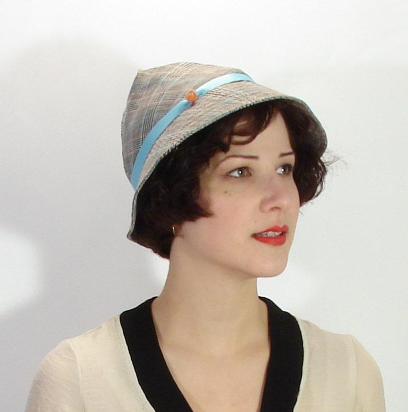 1930 Reproduction Sport Retro Soft Vintage Style Art Deco Sun Hat Ladies Hat Size 7 14 58 cm SALE