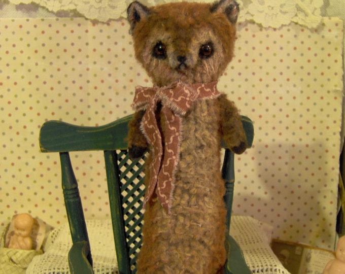 Primitive Fox  Artist Bear Woodland Friend by S. Reetz