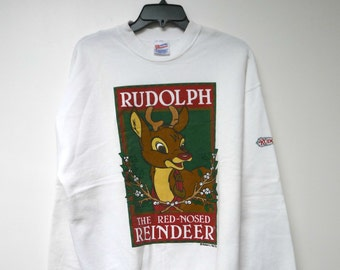 Rudolph . Christmas sweater . large